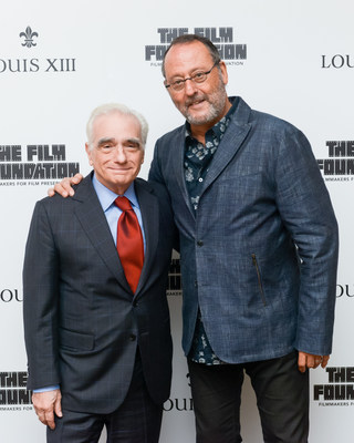 """Martin Scorsese and Jean Reno at the release of """"The Broken Butterfly"""", directed in 1919 and restored 100 years later in 2019 by The Film Foundation and LOUIS XIII Cognac"""