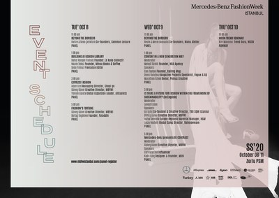 Istanbul Fashion Week Event Schedule