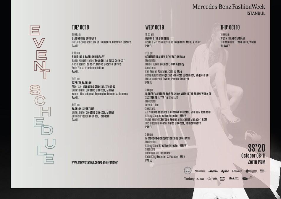 Istanbul Fashion Week Event Schedule (PRNewsfoto/Istanbul Fashion Week)
