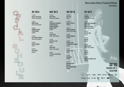 Istanbul Fashion Week Runway Schedule