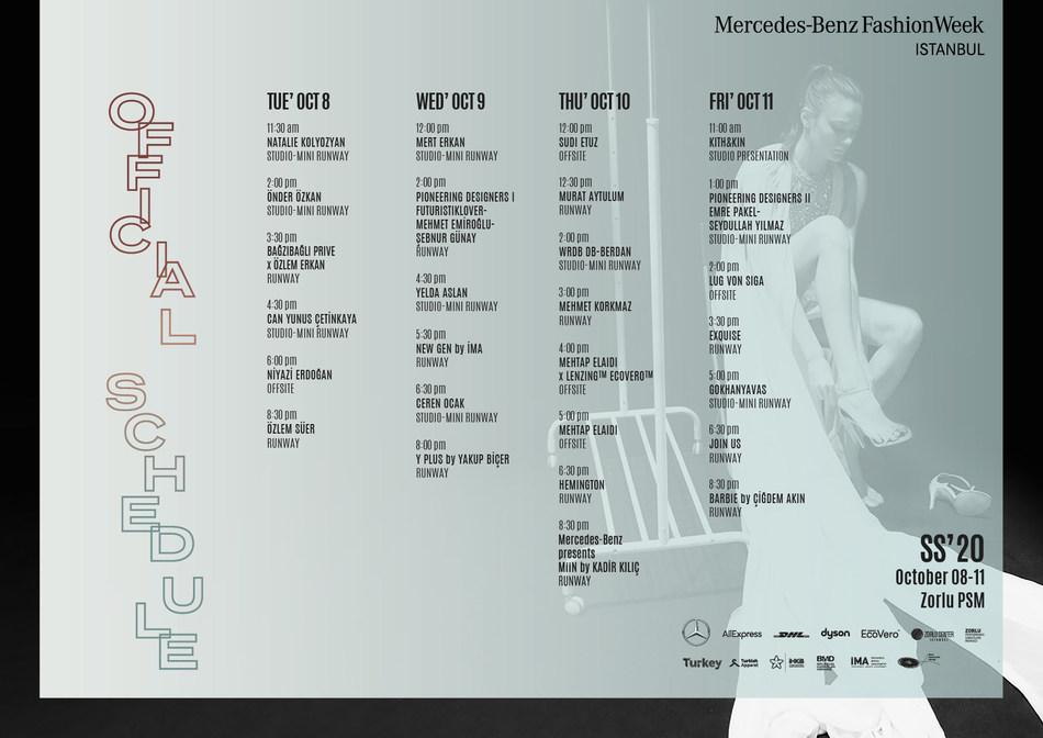 Istanbul Fashion Week Runway Schedule (PRNewsfoto/Istanbul Fashion Week)
