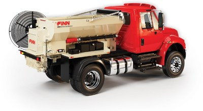 The new FINN MBH6 Material Blower will be featured at the Green Industry & Equipment Expo (GIE) in Louisville, October 16-18, 2019