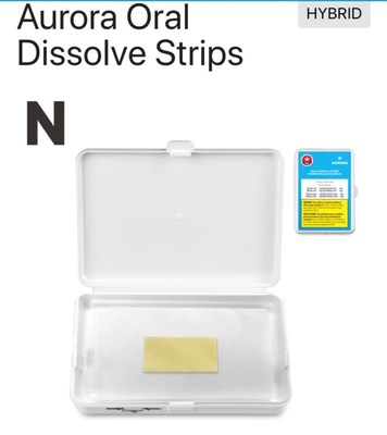 Aurora Oral Dissolve Strips (CNW Group/Aurora Cannabis Inc.)