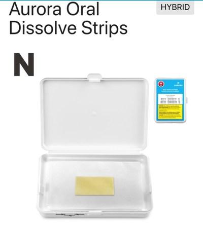 Aurora Oral Dissolve Strips (CNW Group/Aurora Cannabis Inc.)