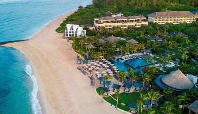 The beachfront resort overview