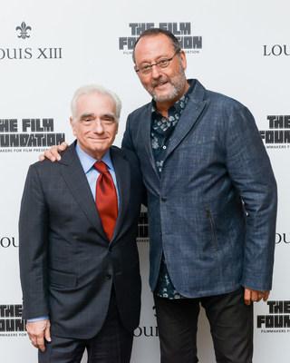 """Martin Scorsese y Jean Reno en el lanzamiento de """"The Broken Butterfly"""", dirigida en 1919 y restaurada 100 años después, en 2019, por The Film Foundation y LOUIS XIII Cognac (PRNewsfoto/LOUIS XIII Cognac)"""