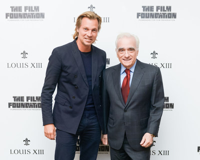 "Martin Scorsese and Ludovic du Plessis at the release of ""The Broken Butterfly"", directed in 1919 and restored 100 years later in 2019 by The Film Foundation and LOUIS XIII Cognac (PRNewsfoto/LOUIS XIII Cognac)"