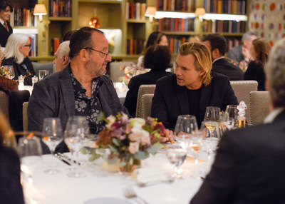"Jean Reno and Ludovic du Plessis at the release of ""The Broken Butterfly"", directed in 1919 and restored 100 years later in 2019 by The Film Foundation and LOUIS XIII Cognac"