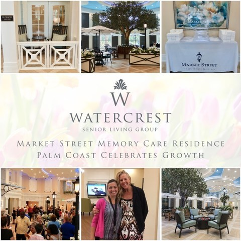 Market Street Memory Care Residence in Palm Coast, Florida celebrates growth as they welcome residents to their newly opened 'Blossom House.'