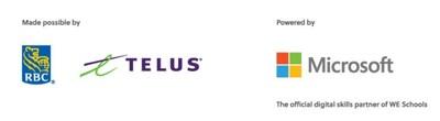 RBC; TELUS; Microsoft (CNW Group/WE Charity)