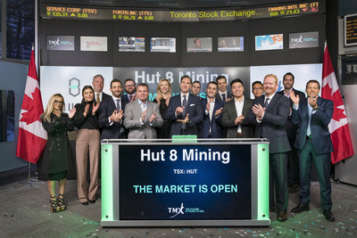 Hut 8 Mining Corp. Opens the Market (CNW Group/TMX Group Limited)