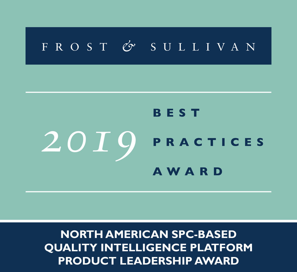 2019 North American SPC-based Quality Intelligence Platform Product Leadership Award (PRNewsfoto/Frost & Sullivan)