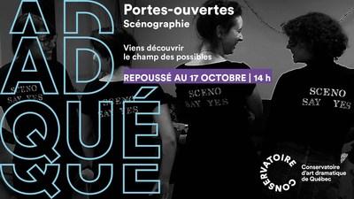 Portes ouvertes en Scénographie au Conservatoire d'art dramatique de Québec, le 17 octobre, 14 h. (Groupe CNW/Conservatoire de musique et d'art dramatique du Québec)