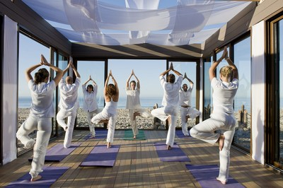 Paradis Plage in Agadir, Morocco helps young adults ride the wave to meditative bliss on beachfront yoga pavilions, then find their balance on a surfboard on Morocco's Atlantic coast