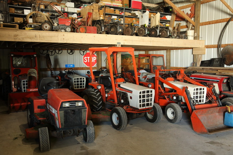 The couple own 16 Simplicity tractors along with countless parts and paraphernalia outfitting their home and barn.