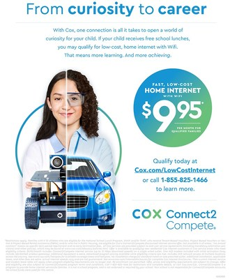 Lost-cost internet for kids that needs it most. Now with 65 percent faster speeds.