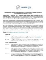 Wallbridge Drills Significant, Wide Intersections of the Tabasco Zone at Depth and Continues to Successfully Delineate Gold Zones in Area 51 (CNW Group/Wallbridge Mining Company Limited)