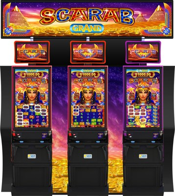 IGT's Scarab Grand video slots on the CrystalCurve cabinet.