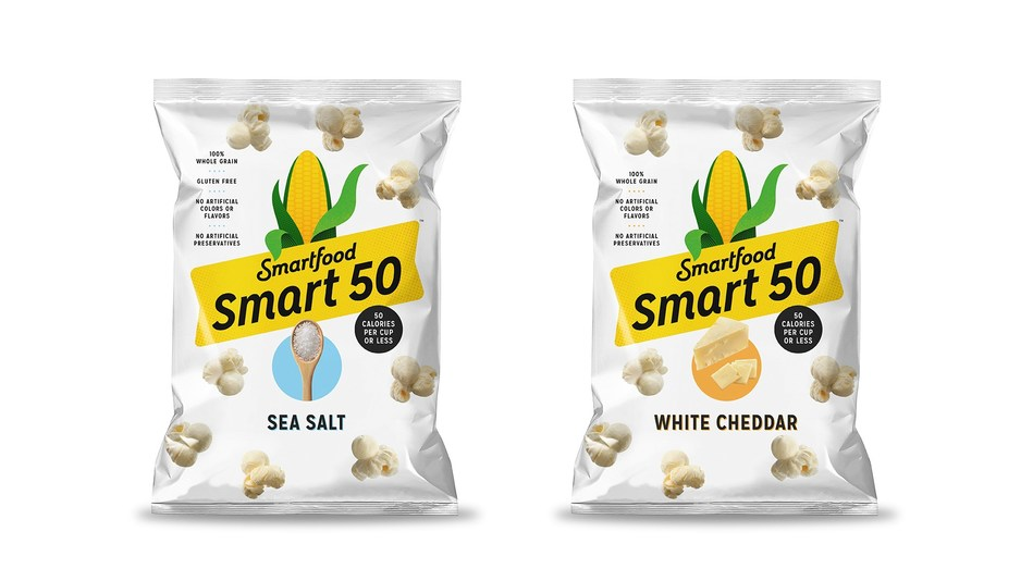 Air popped and full of flavor, Smart50™ is available in White Cheddar and Sea Salt, bringing consumers two satisfying flavors at 50™ calories per cup or less.