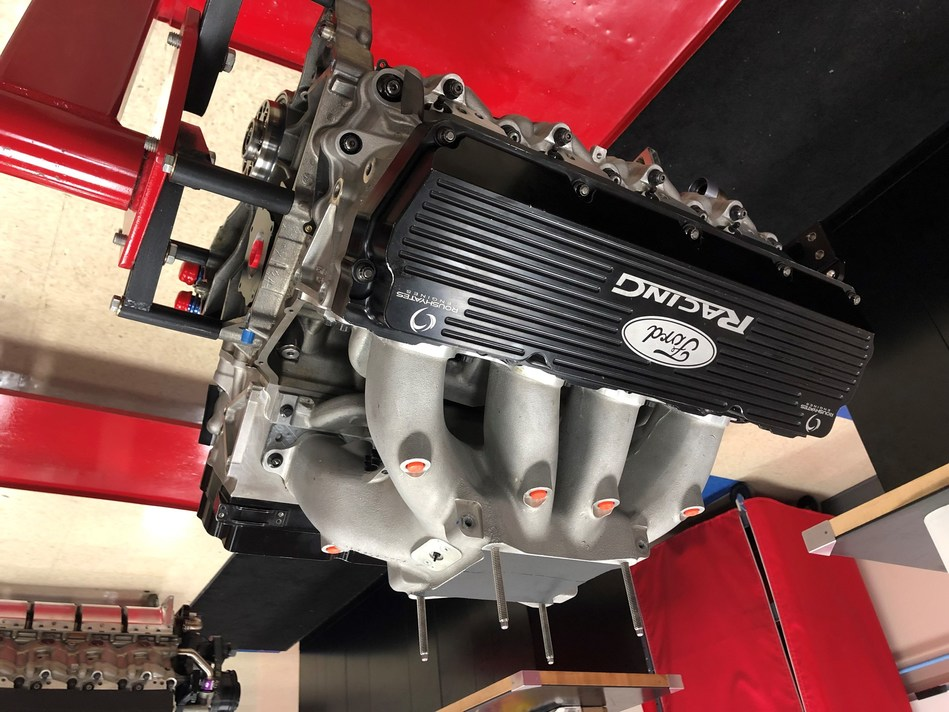Courtesy of Roush Yates, students at NASCAR Tech can get their hands on this F9 racing engine during their High Performance Engine Course