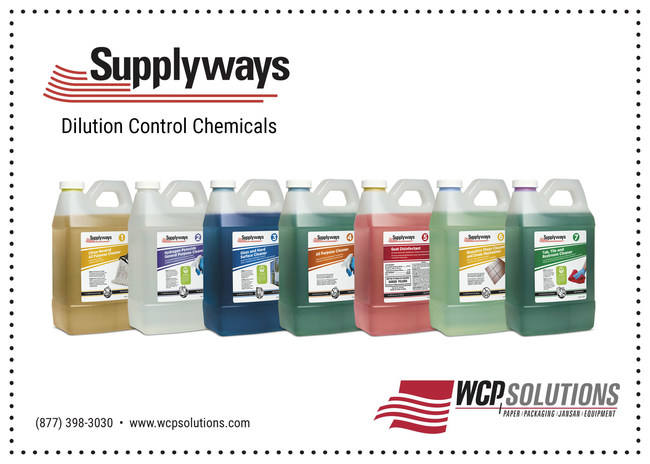 The new dilution control cleaning chemicals from WCP Solutions
