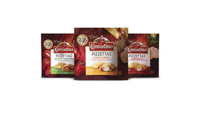 Contadina Pizzettas are available in three flavors: Four Cheese, Margherita and Garden Vegetable.