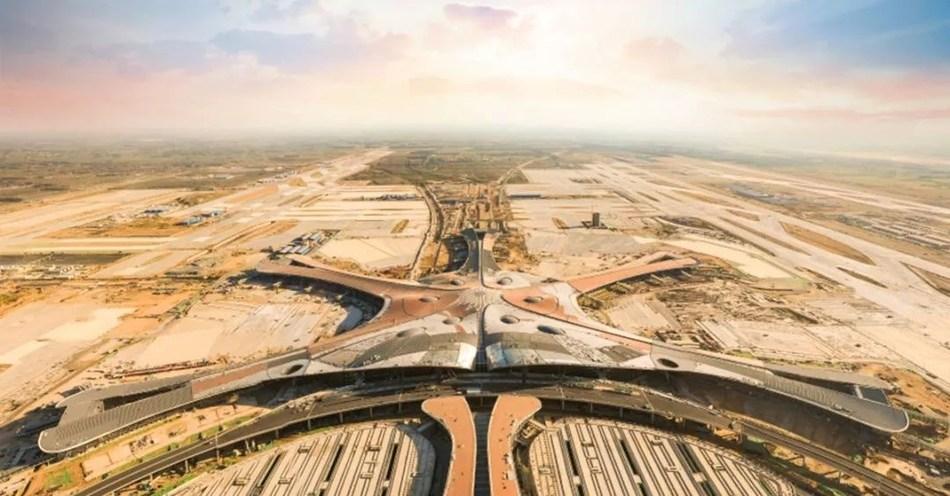 Aeropuerto Internacional de Beijing-Daxing, con energía de FusionSolar de Huawei (PRNewsfoto/Huawei)