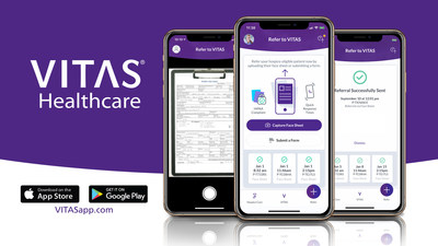 Download the free app at VITASapp.com, Google Play or the App Store, and refer securely with support available 24/7/365.