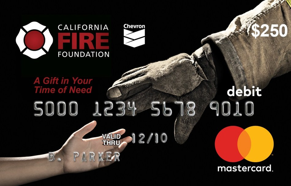 California Fire Foundation's Supplying Aid to Victims of Emergency (SAVE), co-sponsored by Chevron, provides on-the-spot relief for fire victims through $250 SAVE Card