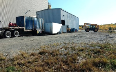 Mobile equipment, trailer and other material mobilized to site (CNW Group/First Cobalt Corp.)