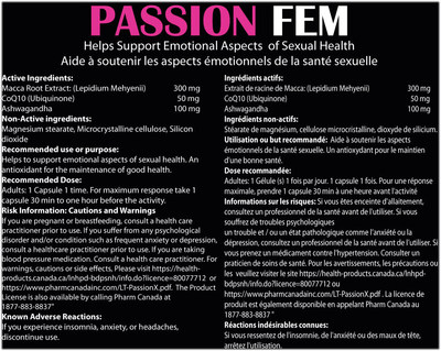 Passion Fem – Back (CNW Group/Health Canada)