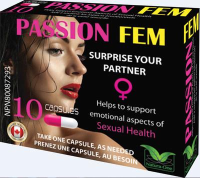 Passion FEM 10 capsules - Devant (Groupe CNW/Santé Canada)