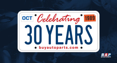 BuyAutoParts.com celebrates 30 year anniversary