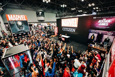 Citizen joined Marvel to giveaway Marvel x Citizen watches each day at this years NY Comic Con.