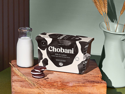 Chobani is donating 10 cents from every purchase of the new Farmer Batch Chobani® Greek Yogurt Milk & Cookies 4-pack to American Farmland Trust to offer multiple microgrants of up to $10,000 to help farmers transfer or protect their land, strengthen their farm business, or develop climate plans.