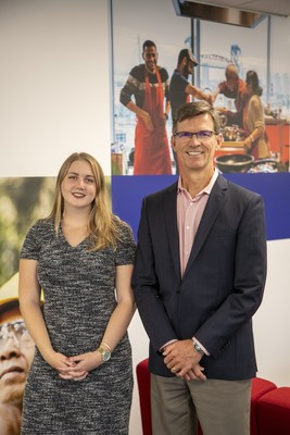 Girls Belong Here student participant, Emma Green, was mentored by Gary Wade, President of Unilever Canada. (CNW Group/Unilever Canada)