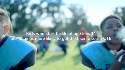 """Still image from Fingerpaint PSA """"Tackle Can Wait"""" on Behalf of the Concussion Legacy Foundation"""