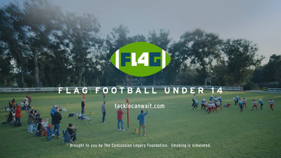 "Still image from Fingerpaint PSA ""Tackle Can Wait"" on Behalf of the Concussion Legacy Foundation"