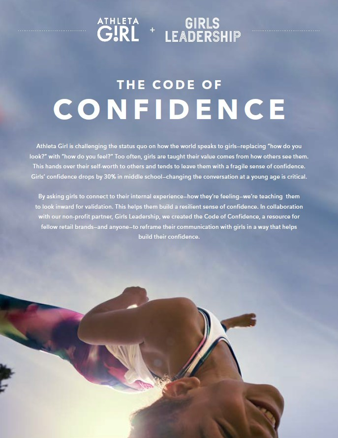 "Athleta Girl And Girls Leadership Launch ""Code Of Confidence"" To Redefine Conversations With Girls"
