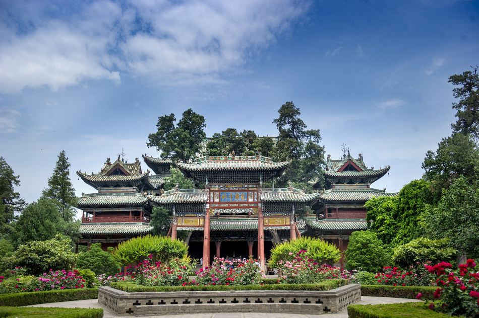 The Chunqiu building of Guandi Temple in Haizhou, Yuncheng, Shanxi Province