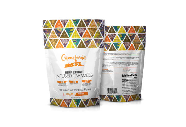 Cannafornia CBD 25mg Caramels