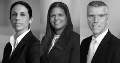 Estera launches legal services in Bermuda and Cayman.  Left to right: Alison Dyer-Fagundo; Kendra Foster; James Maitland