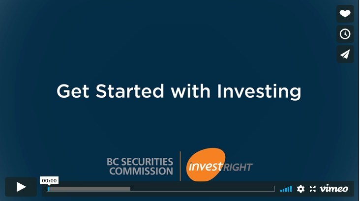 Get Started with Investing video resource. (CNW Group/British Columbia Securities Commission)