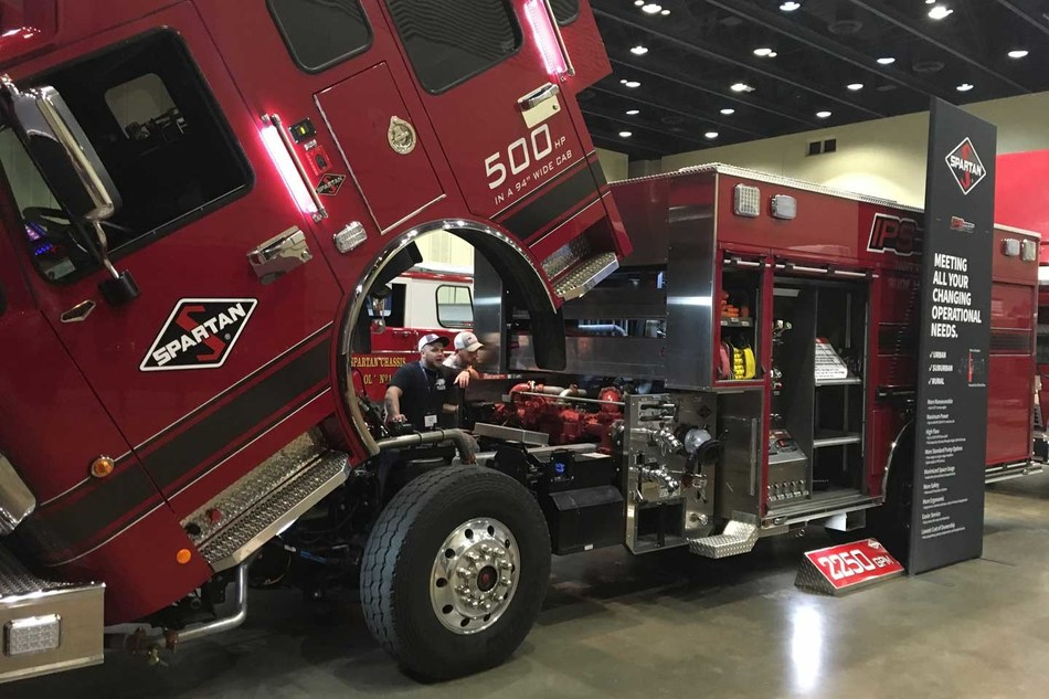 Spartan Motors teaches the finer points of its Intelligent Pump Solution (or IPS) drivetrain at its annual Fire Truck Training Conference (FTTC).