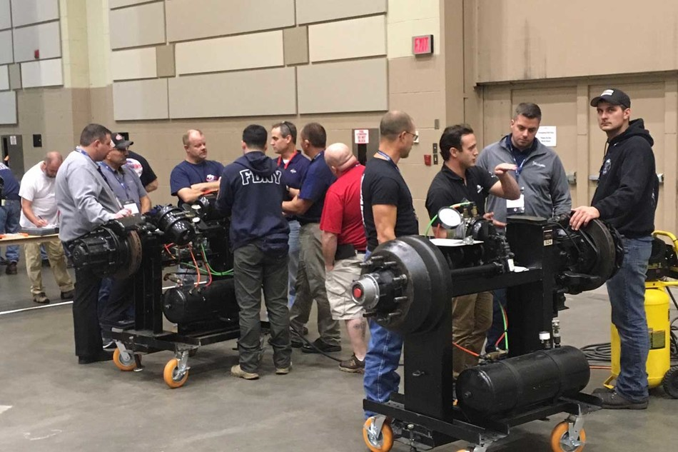 Fire apparatus technicians learn the latest in brake maintenance and repair at Spartan Motors' 25th annual Fire Truck Training Conference (FTTC).