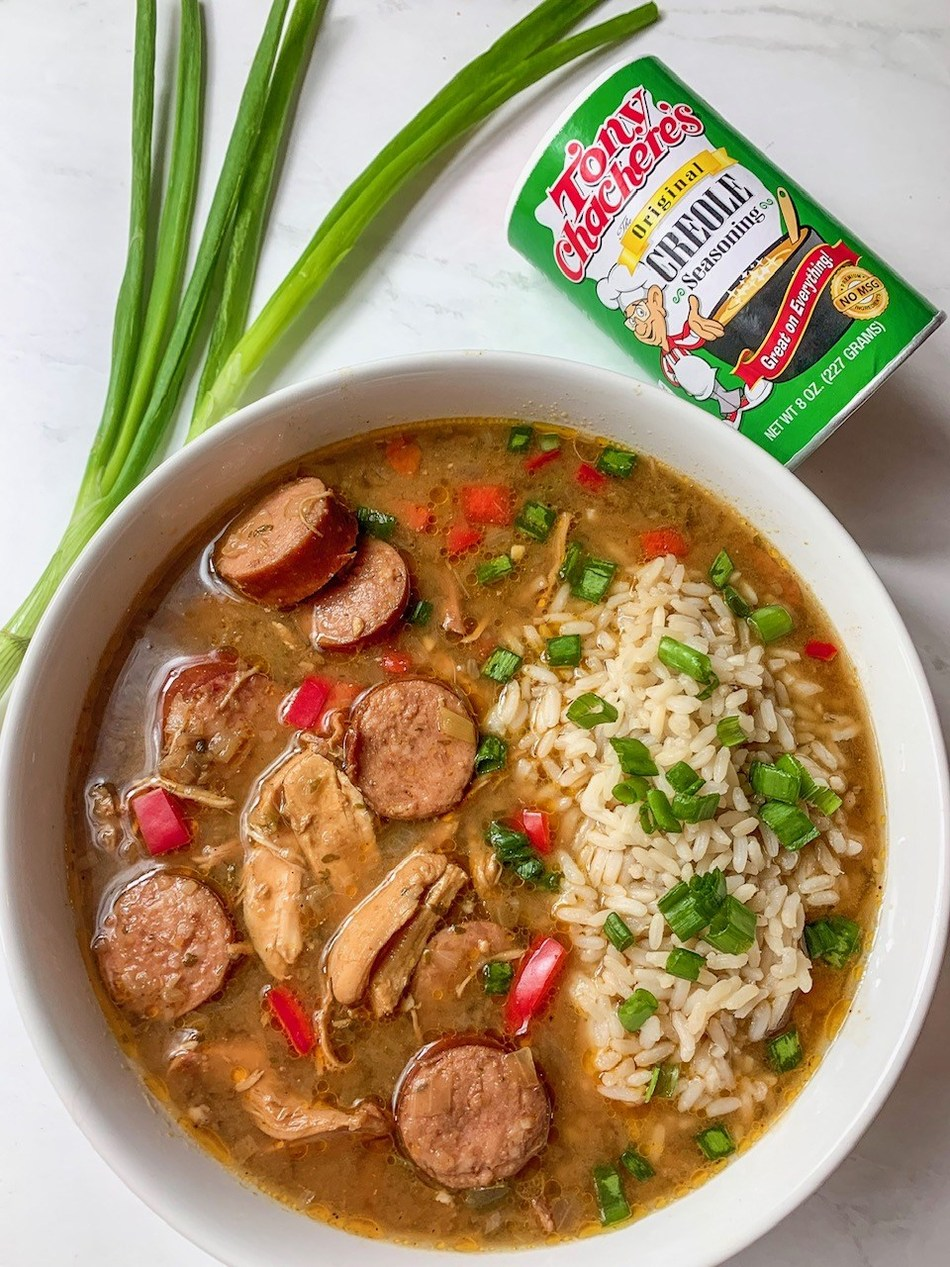 Tony Chachere's Trinity Gumbo is a triple threat of flavor and easy to make: by @HangryHoustonian.