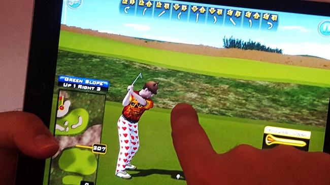 Screen Shot from Golden Tee Golf's New APP