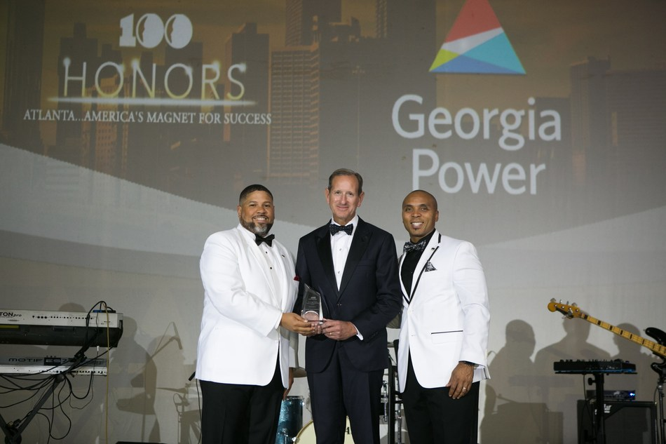 Pictured left to right: Kevin Gooch, Board Chair of 100 Black Men of Atlanta, Inc.; Paul Bowers, chairman, president and CEO of Georgia Power; Anthony Flynn, Executive Director, 100 Black Men of Atlanta, Inc.