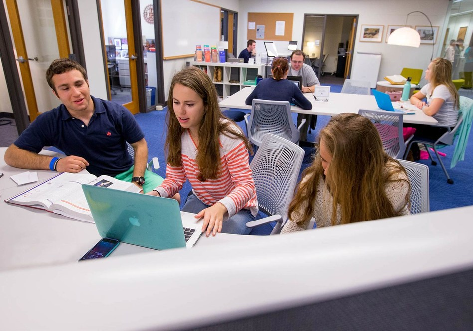Connecticut College students using the Academic Resource Center. The ARC will expand its programming thanks to a $10 million gift from anonymous donors.