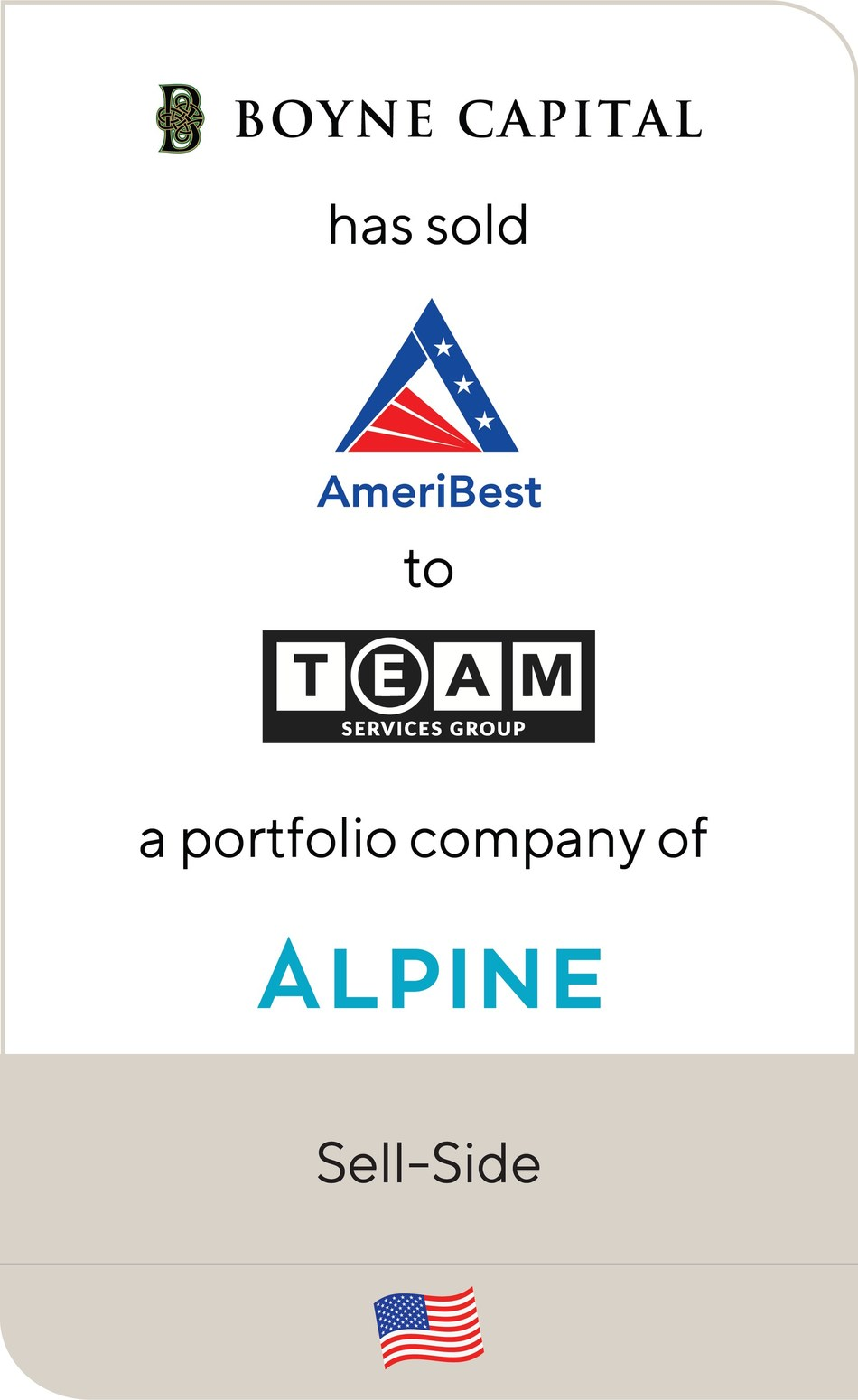 Lincoln International is pleased to announce that AmeriBest Home Care, a portfolio company of Boyne Capital, has been sold to TEAM Services Group, a portfolio company of Alpine Investors